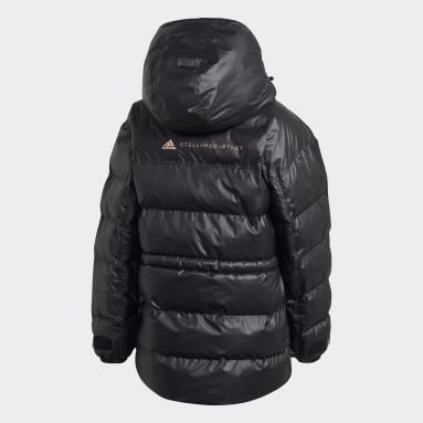 Women adidas by Stella McCartney Black 2-in-1 Mid Length Padded Jacket