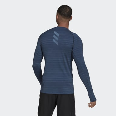Men Running Blue Runner Long Sleeve Tee