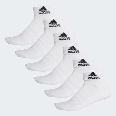 Training White Cushioned Ankle Socks 6 Pairs