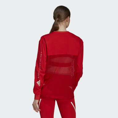 Dam adidas by Stella McCartney Röd adidas by Stella McCartney Mesh Top