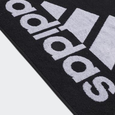 Udendørshockey Sort adidas håndklæde, lille