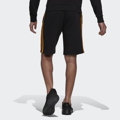 Men's Essentials Black Essentials Fleece 3-Stripes Shorts
