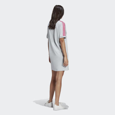 Dam Originals Blå Adicolor 3D Trefoil Tee Dress