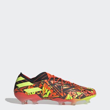 Bota de fútbol Nemeziz Messi.1 césped natural seco Naranja Fútbol