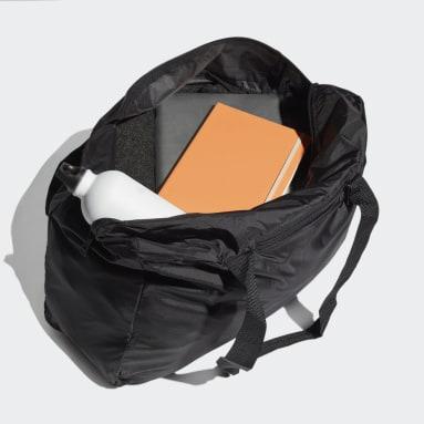 Handball Packable Tragetasche Schwarz