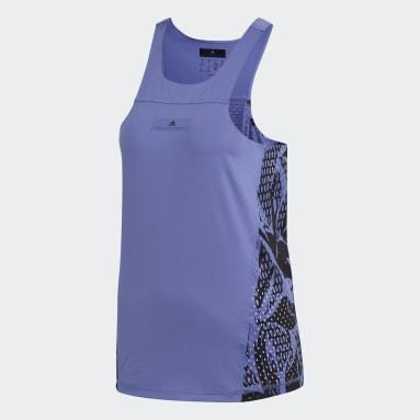 Women adidas by Stella McCartney Purple Run Adizero Tank Top