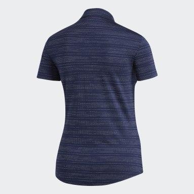 Polo Microdot Bleu Femmes Golf