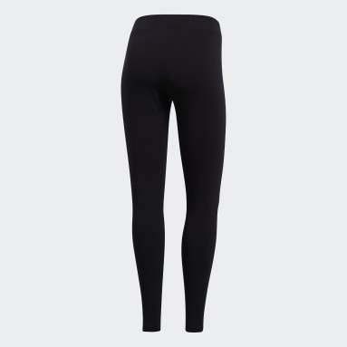 Women Sport Inspired Black Essentials Linear Tights