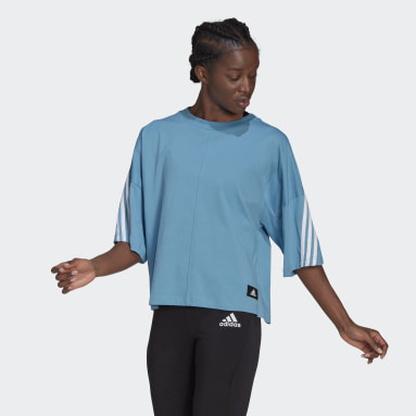 Women's Sportswear Blue adidas Sportswear Future Icons 3-Stripes Tee