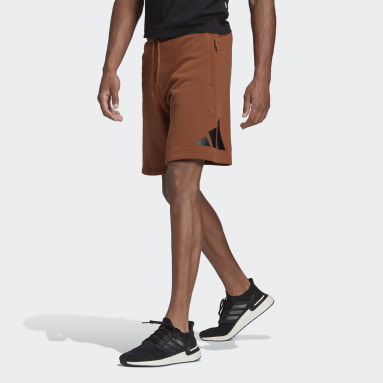 Men Sportswear Brown adidas Sportswear Badge of Sport Shorts