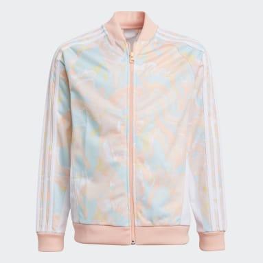 Girls Originals Pink Marble Print SST Jacket