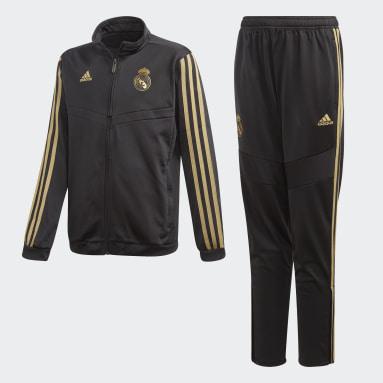 Survêtement Real Madrid Noir Garçons Football
