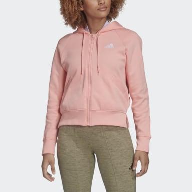 Chaqueta con capucha Ribbed Rosa Mujer Sportswear