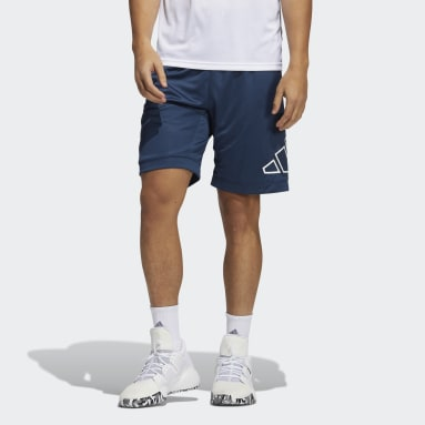 Men's Basketball Blue Big Logo Shorts