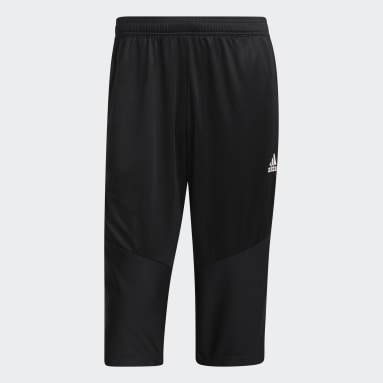 Men's Soccer Black Tiro 19 3/4 Pants