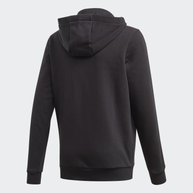 Boys Gym & Training Black Must Haves 3-Stripes Hoodie