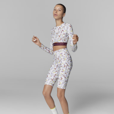 Tight adidas by Stella McCartney TruePurpose Allover Print Cycling Bianco Donna adidas by Stella McCartney
