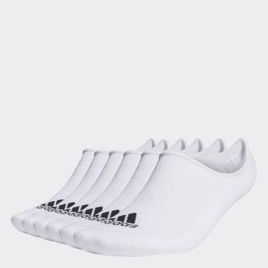 Men Golf White Low-Cut Socks 6 Pairs