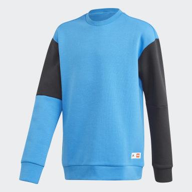 Youth Training Blue adidas x Classic LEGO® Bricks Sweatshirt