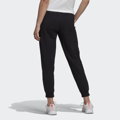 Women Sport Inspired Black adidas Essentials Tapered 3-Stripes 7/8 Pants