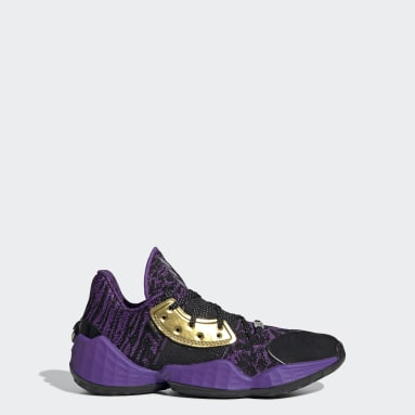 Youth Basketball Black Harden Vol. 4 Star Wars Lightsaber Purple Shoes