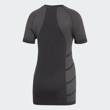 T-shirt Primeknit Cru Noir Femmes Running