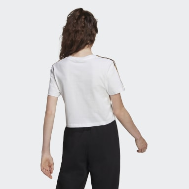 T-shirt Cropped Blanc Femmes Originals