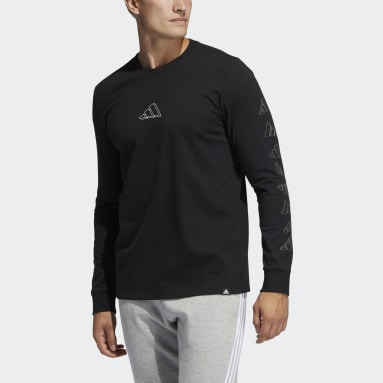 Men Sportswear Black adidas Geo Long Sleeve Graphic Tee