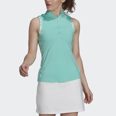 Polo sin mangas Ultimate365 Verde Mujer Golf