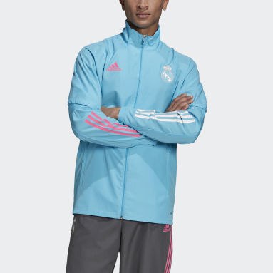 Men Football Turquoise Real Madrid Presentation Track Top