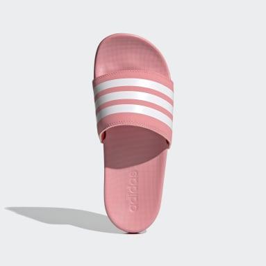 Dames Zwemmen Roze Adilette Comfort Badslippers