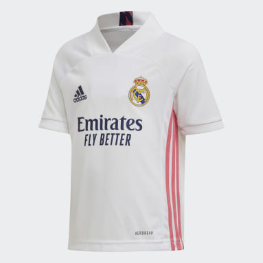 Real Madrid 20/21 Home Mini Kit Bialy