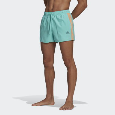 Men Swimming Green Classic 3-Stripes Swim Shorts