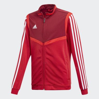 Kids Gym & Training Red Tiro 19 Polyester Jacket