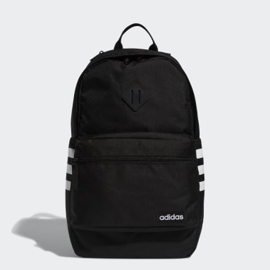 Essentials Black Classic 3-Stripes 3 Backpack