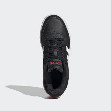 Children Sport Inspired Black Hoops 2.0 Shoes