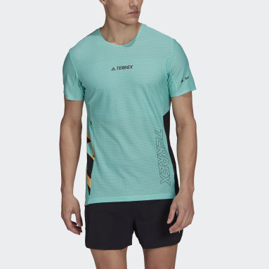 Men TERREX Green Terrex Parley Agravic Trail Running Pro T-Shirt