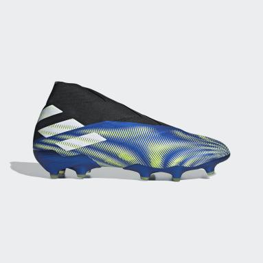 Football Blue Nemeziz+ Firm Ground Boots