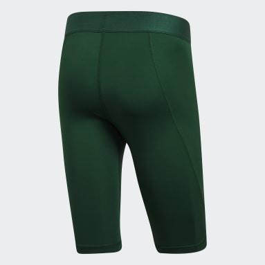 Men's Yoga Green Alphaskin Sport Short Tights