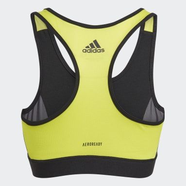 Girls Lifestyle Black adidas Designed To Move Leopard Bra Top