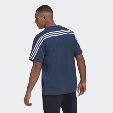 Men Sportswear Blue adidas Sportswear 3-Stripes Tee