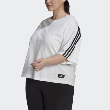 Dames Sportswear Wit adidas Sportswear Future Icons 3-Stripes T-shirt (Grote Maat)