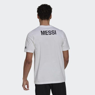 Men Football White Lionel Messi Icon Tee