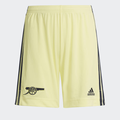 Youth 8-16 Years Football Yellow Arsenal 21/22 Away Shorts