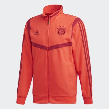 Men Football Red FC Bayern Presentation Jacket