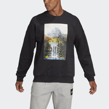 Men's Sportswear Black adidas Sportswear Mountain Graphic Sweatshirt