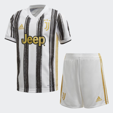 Boys Football White Juventus Home Mini Kit