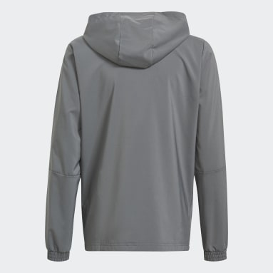 Youth Lifestyle Grey Tiro 21 Windbreaker