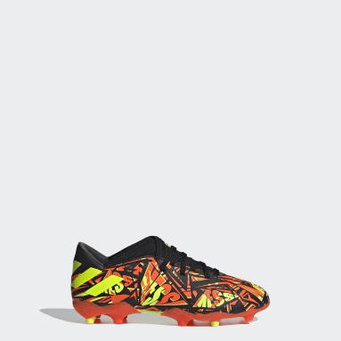 Boys Football Orange Nemeziz Messi.3 Firm Ground Boots