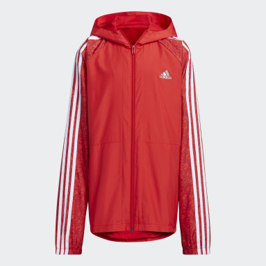 Youth 8-16 Years Gym & Training Red Track Suit Woven Track Top